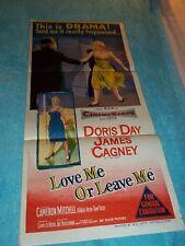 "Austrailian  Love Me or Leave Me Doris Day Insert 13 1/2""x30"""