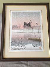 "Japanese Woodblock Print ""Snowy Day"" by Shufu Miyamoto"