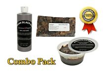 8oz Black Soap  w/ Raw African Shea Butter Organic Unrefined 3pack Combo Organic