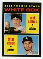 2020 Topps Heritage #13 ZACK COLLINS & DYLAN CEASE Chicago White Sox Rookie RC