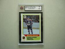 1986/87 O-PEE-CHEE NHL HOCKEY CARD #260 WAYNE GRETZKY LEADER KSA 7 NM 86/87 OPC