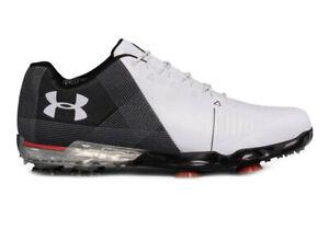 Under Armour Spieth 2 Mens Size 10 Gore-Tex Golf Shoes White Black 3020801-100