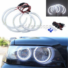 White Angel Eye Halo Rings Light Lamp LED For Headlight BMW E53 X5 1999-2004
