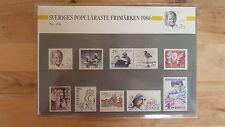 """Schweden -  populärsten Briefmarken von 1986 """" ungeöffnet """""""
