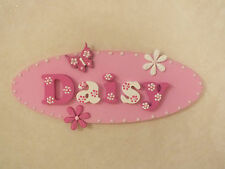 Hand Made Personalised Girls Oval Wooden Door/Wall Plaque Sign