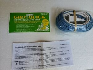 Gro-Quick Electric Soil Heating Cable 48 ft. Wrap On Co. #51048 Ink New Open Box