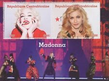 MADONNA QUEEN OF POP MUSIC CENTRAFRICAINE 2017 MNH STAMP SHEETLET
