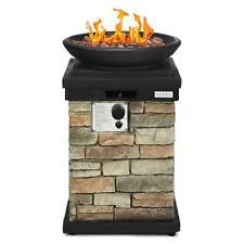 New listing 40,000 Btu Patio Propane Burning Fire Bowl Rustic Style with Lava Rocks & Cover
