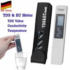 DE TDS EC Meter Messgerät Digital Tester Wassertest Leitwertmessgerät 0-9999 ppm