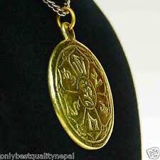 Amulet Talisman Medallion Tibet Charm Pendant Mantra of Compassion A86