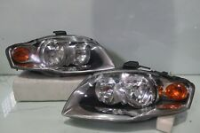 05-08 Audi S4 A4 B7 Front Headlights Lamps Lights HALOGEN 1 PAIR OEM