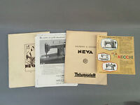Lot old documents machine sewing Neva and others french antique