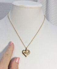 "Goldtone ""Mom""  Inside a Heart Pendant Necklace"