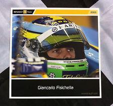 GIANCARLO FISICHELLA FORMULA 1 RENAULT 2005 TEAM POST CARD DRIVER 15cm x15cm R25