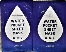 Leneige Water Pocket Sheet Mask Sleeping Mask Lot of 2 New Packages