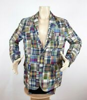 Polo Ralph Lauren Patchwork Blazer Multicolor Men's Size XL India Madras Jacket