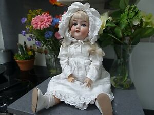 VINTAGE EARLY 20TH CENTURY ARMAND MARSEILLE BISQUE HEADED DOLL 390 A.M 11M