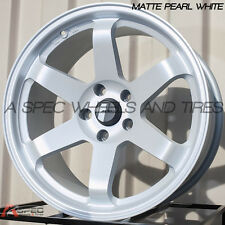 AVID.1 AV-06 18X9.5 WHEEL 5X114.3 +24 WHITE FITS RX7 RX8 G35 RSX TSX TL CIVIC