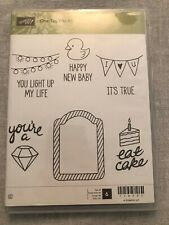 Stampin Up One Tag Fits All Set Of 6 UnMounted Rubber Stamp Su Scrapbooking