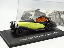 Prensa Ixo 1/43 - Delage D8 SS Fernandez y Darrin 1932 Amarillo y negro