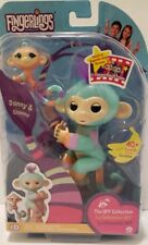 Fingerlings DANNY & GIANNA BFF Collection Monkey TURQUOISE ORANGE interactive to