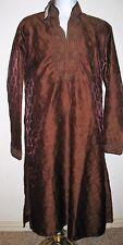 Men's NEW banarsi jamavar coat style kamiz in rust color size Medium