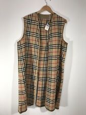 Burberry Burberrys Vest Liner Coat Nova Check Size: 16 NWT Lining 100% Wool