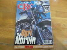 CLASSIC BIKE MAGAZINE CBG 94 OGRI NORVIN TRITON COMET TRIUMPH HILL CIMBING