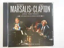 WYNTON MARSALIS & ERIC CLAPTON : PLAY THE BLUES [ RARE CD ALBUM PROMO ]