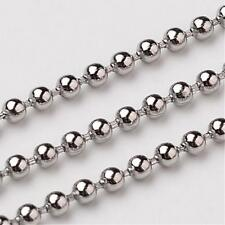 Stainless Steel Ball Chain 1.5 mm to 5 mm Lengths of  46 cm to 3 Metres