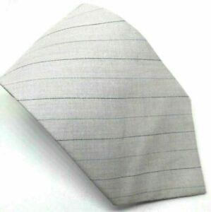 """Ben Sherman Men's Tie 100% Silk Beige Striped 3.75"""" Width 58"""" Length"""