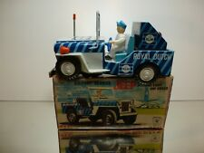 ICHIKO TIN TOY WILLY's JEEP - KLM AIRPORT SERVICES - L19.0cm RARE - GOOD IN BOX