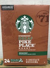 96 Ct Starbucks Coffee KeurigKCups Decaf Pike PlaceRoast Med Roast Exp 18/nov/20