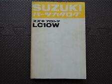 JDM SUZUKI FRONTE LC10W Original Genuine Parts Catalog Japanese Kei Car