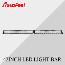 42INCH 2592W LED Light Bar Flood Spot Combo Driving Lamp For Jeep Amber White US
