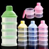 Utility Baby Infant Feeding Milk Powder Food Bottle Container 4 Cells Grid Box