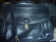 Vintage COACH # 5266 Beekman Black Leather Attache Briefcase Messenger Bag