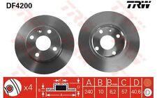 TRW Juego de 2 discos freno Trasero 240mm OPEL COMBO CORSA TIGRA VAUXHALL DF4200