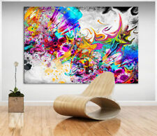 Abstrakte Wandbilder Bunt Farbe Leinwand Kunst Bilder Kunstdruck XXL D1158