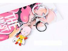 One Punch Man Saitama Oppai Keychain Keyring Characters Pendant Metal Cosplay
