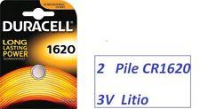 2 pile Litio CR1620  3V   DL1620 Duracell  3V