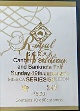 Australian Stamps: 2011 - Royal Wedding Booklet - Overprint