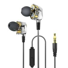 Dual Dynamic Drivers In-ear Earphone 3.5mm Wired Control With Mic