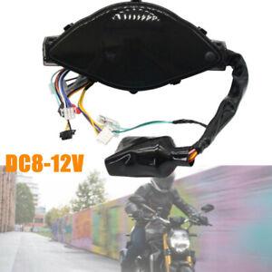 1PCS LCD Digital Display Motorcycle Speedometer Odometer Meter Tachometer Gauge