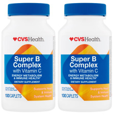 2 PACKS of CVS Health Super B Complex with Vitamin C - immune Support 100ct each