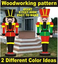GIANT NUTCRACKER  8 FEETHIGH  CHRISTMAS WOODWORKING PATTERN,plan,craft yard art