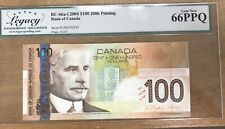 2004 Bank of Canada $100 - Legacy Gem New 66PPQ S/N: EJN6350541