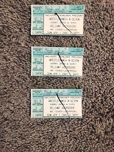 3 WWF Wrestlemania X-Seven 17 Ticket Stub WWE Astrodome Houston Rock Austin 2001