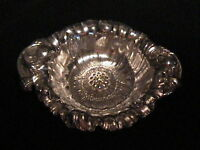 Reed & Barton Large Size Sterling  Nut Or Candy Dish - Poppies
