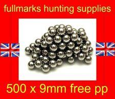 9mm Ball Bearings Catapult Slingshot Ammo 9mm Steel Balls x 400